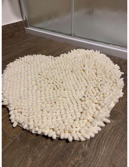 Tappeto Passatello a forma di cuore in morbida microfibra