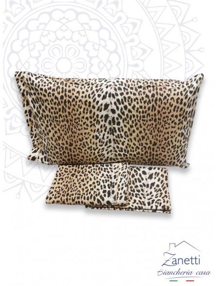 Completo lenzuola con fantasia leopardata