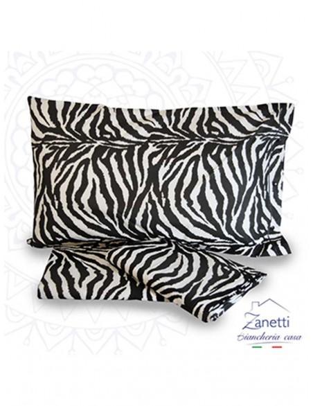 Completo letto in cotone con fantasia zebrata