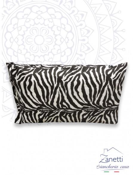 Coppia federe in cotone fantasia zebrata