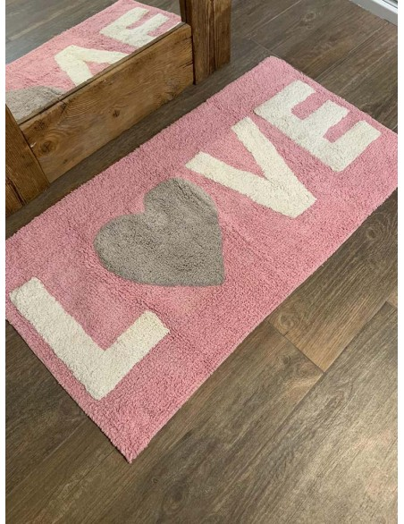 Tappeto bagno serie Love in...