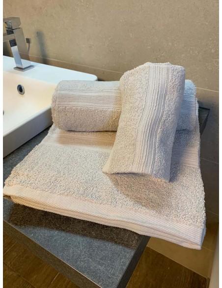 Set asciugamani bagno in tinta unita in cotone